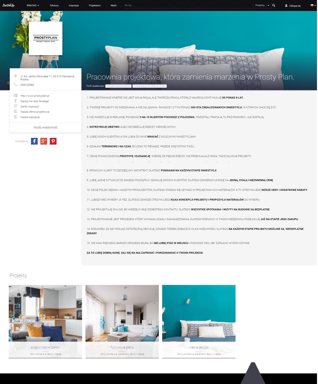 ArchiUp- Jak bez strony i Facebooka zaprezentować swój projekt i dotrzeć do nowych klientów? 2